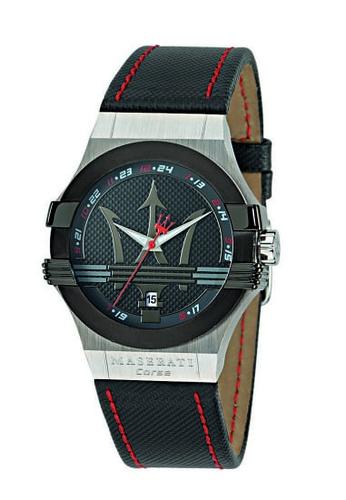 Maserati black Potenza Quartz Watch R8851108001 Black Leather Strap E5068AC608F761GS_1