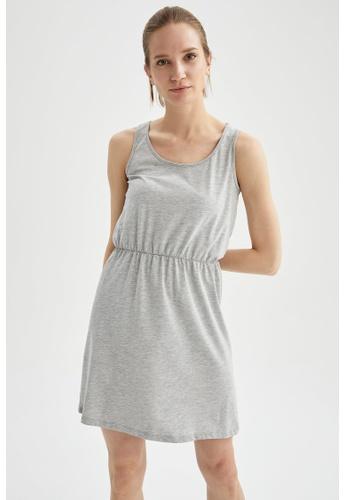 DeFacto grey Sleeveless Mini Dress DB699AA09F1D35GS_1