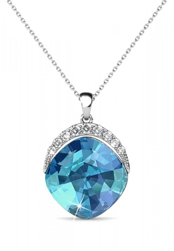 Her Jewellery blue and silver Her Jewellery Tiffy Pendant (Blue) with Necklace Chain with 18K Gold Plated C0407ACA38A887GS_1