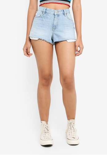 TOPSHOP blue Moto Cory Authentic Shorts 4FC7BAADBE58F2GS_1