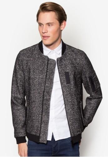羊毛混紡棒球外套, 服飾, 外esprit hk分店套