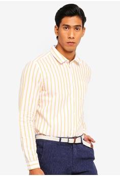 d055c612e48113 ESPRIT yellow Long Sleeve Stripe Shirt 713DBAAC03D9AAGS_1 63% OFF ...