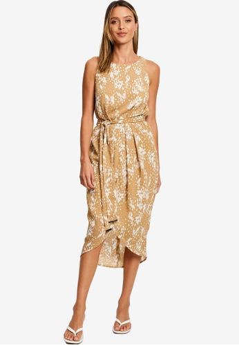 Tussah brown Cristobal Dress A0EE1AA110B0D0GS_1