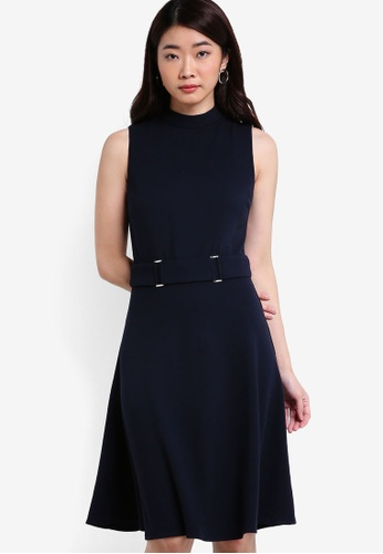 ZALORA navy Collection Belt Detail Dress F7C2BAA3739420GS_1