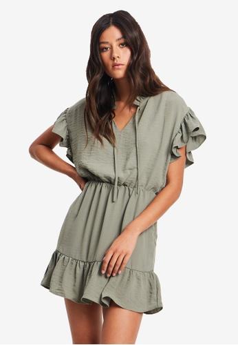 Tussah green Austin Mini Dress DEAD1AA74AD809GS_1