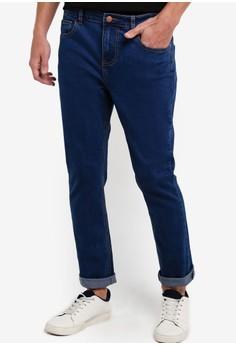 【ZALORA】 水洗標準牛仔褲
