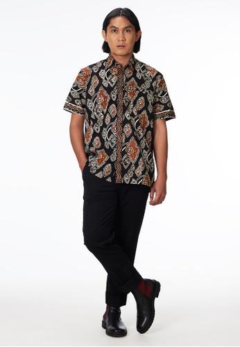 House Of Olsha black and brown Cotton Batik Shirt - Mega 786D0AAB20EF7EGS_1