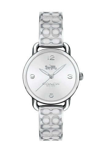 COACH silver Coach Delancey Silver & White Women's Watch (14502891) CDD52AC6E6C676GS_1