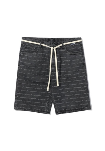Fivecm black Logo denim shorts 58F27AA48BFA1BGS_1