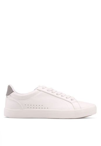 Burton Menswear London white White Leather Look Trainers 52217SHCB65915GS_1