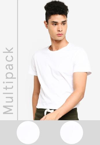 Produkt white 2 Pack Short Sleeve Crew Neck T-Shirt C7142AAED3D9E7GS_1