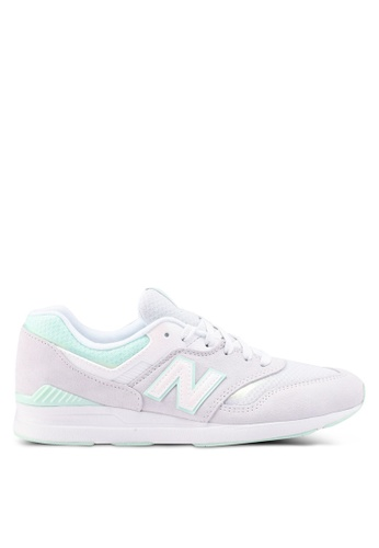 New Balance grey 697 Lifestyle Sneakers 0C74ASHEADE202GS_1