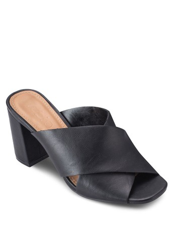 Forrester 交叉寬帶露趾Muleesprit 會員 涼鞋, 女鞋, 鞋