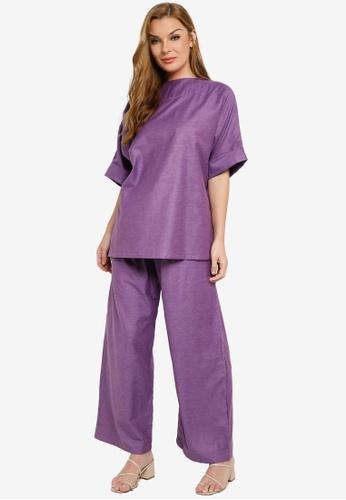 Kehati purple Udon Pants Suit 18AF7AA0480321GS_1