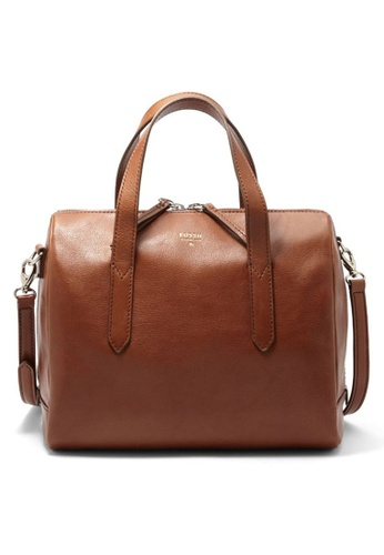 Fossil Brown Sydney Leather Satchel Zb5486200 Fo164ac0sarcmy 1