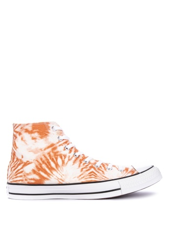 Converse orange and multi Chuck Taylor All Star Tie Dye Sneakers 8C644SH680717EGS_1