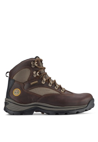 Timberland brown and green Chocorua Trail Mid with Gore-Tex Boots TI063SH93UIOMY_1