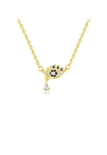 Glamorousky white Fashion Personality Plated Gold Eye Necklace with Cubic Zirconia 83FD7AC97A61CEGS_1