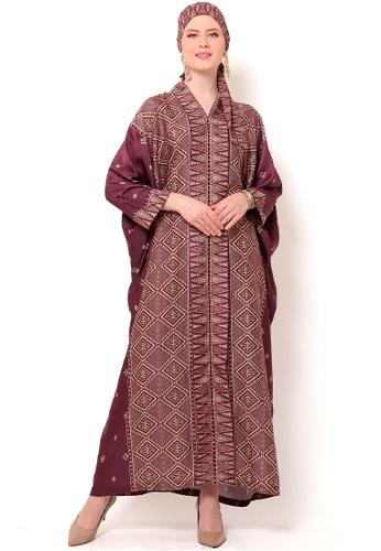 Kanzi by liza yahya red Kanzi Exclusive Long Sleeve Songket Kaftan 6B1A1AAF31F87EGS_1