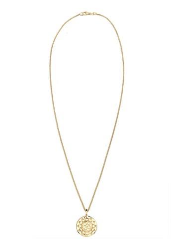 zalora是哪裡的牌子幸運圖騰 925 純銀鍍金項鍊, 飾品配件, 項鍊