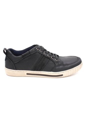 midzone black Leather Sneaker MI949SH38ZHLMY_1
