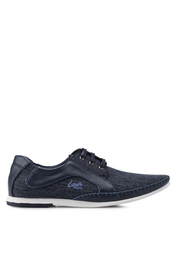 Louis Cuppers navy Mix Materials Sneakers EBCA6SH35636F9GS_1