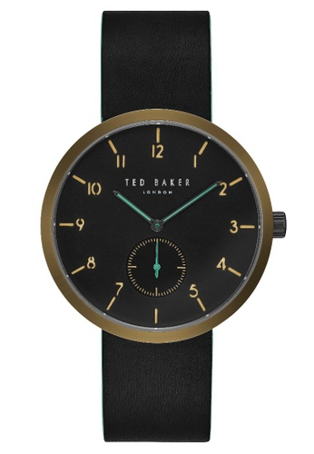 b4c4e5937eb64 TED BAKER black Ted Baker Men s TE50011003 Josh Leather Casual Analog Watch  D7530ACF498864GS 1. CLICK TO ZOOM