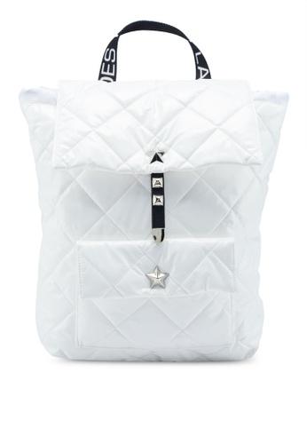 La Fille Des Fleurs white Feeling Space Backpack 553ECAC806838CGS_1