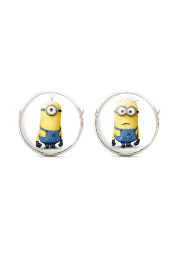 Kings Collection yellow Minions Cufflinks (KC10137) A35D8AC5F78A4EGS_1