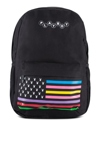 Playboy black Playboy Backpack PL371AC92WFNMY_1