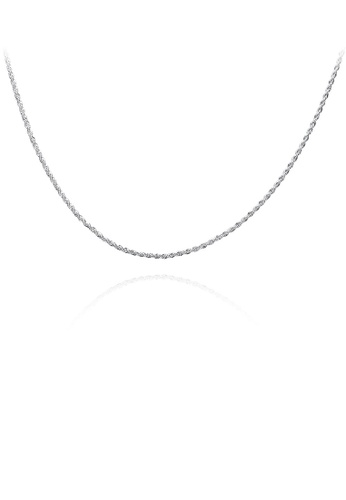 Glamorousky silver Fashion Geometric Twisted Rope Necklace 07BA8ACA88E6D5GS_1