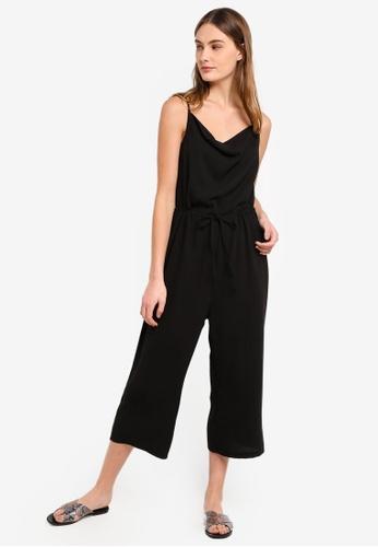 ZALORA BASICS black Basic Cowl Neck Jumpsuit 0110EAA371EBE2GS_1