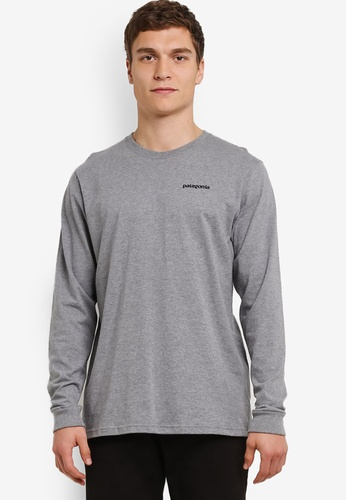 Patagonia grey Long Sleeve Fitz Roy Trout Cotton T-Shirt PA549AA0RQEMMY_1