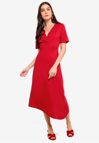 ZALORA red Asymmetrical Knit Dress 99A2DAA7282CC5GS_1