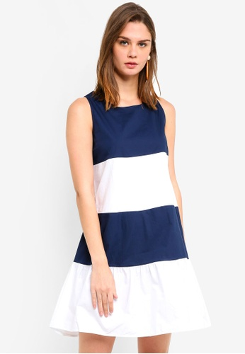 Haute Kelly navy Hyun Ae Color Block Dress F5890AA7967B40GS_1