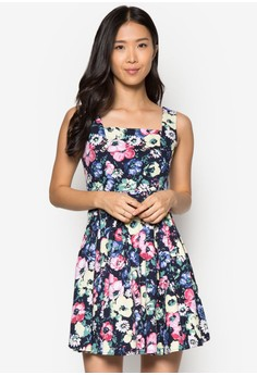 Collection Printed Fit& Flare Dress