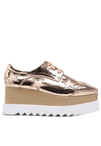 Twenty Eight Shoes 鏡面木底坡跟繫帶鞋T763-3 128BCSH0CCB099GS_1