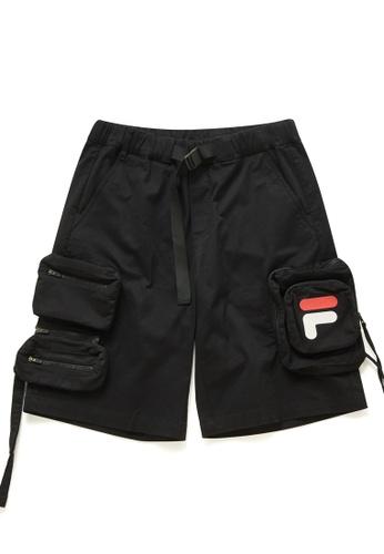 FILA black FUSION F Logo Cargo Bermuda Shorts 4D3B0AA64C8DADGS_1