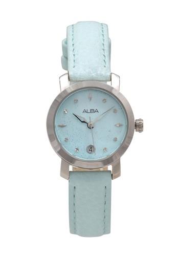 Alba blue ALBA Jam Tangan Wanita - Blue Silver - Leather Strap - AXT079 ABB0DAC7EA76B1GS_1