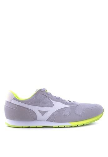 Mizuno grey and white ML 87 Sneakers MI197SH66UCRPH_1