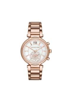 【ZALORA】 Sawyer復古計時腕錶 MK6282