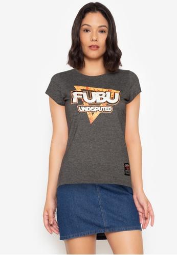 Fubu Queens grey Roundneck Drop Needle Tee B20B9AA0329FF5GS_1