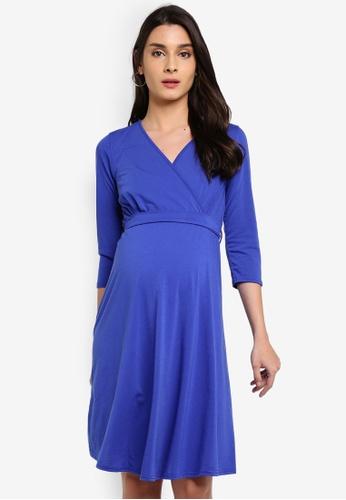 dd64e4251484e Buy Dorothy Perkins Maternity Cobalt Wrap Dress | ZALORA HK