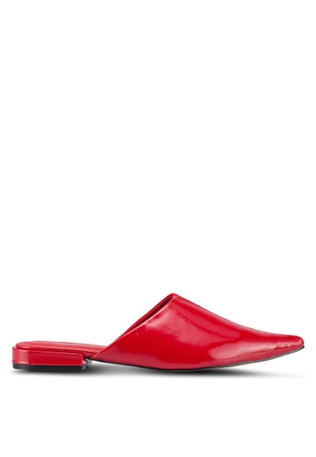 Public Desire red Iggy Slip Ons 47EF8SH9018675GS_1