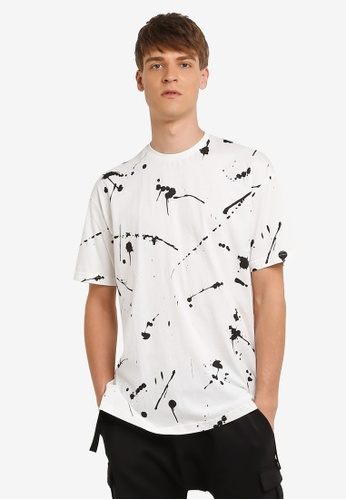 Flesh IMP 白色 Splattering Masterpiece Oversized T-shirt FL064AA0RNA5MY_1