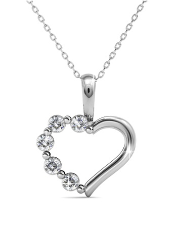 Her Jewellery silver Valentina Pendant -  Made with premium grade crystals from Austria HE210AC0G00WSG_1