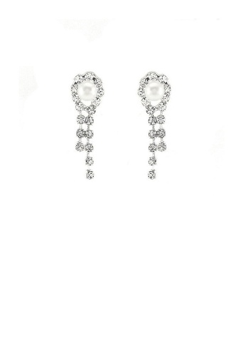 Glamorousky white Glimmering Fashion Pearl Earrings with Silver Austrian Element Crystal 9BD88ACD043E63GS_1
