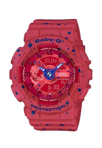 Casio red Baby-G Digital Analog Watch BA-110ST-4A 202CCACD41B571GS_1