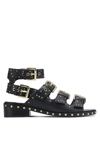 TOPSHOP black Frank Buckle Sandals TO412SH0RIA6MY_1