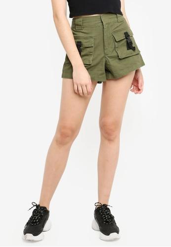 Factorie brown Multi Pocket Shorts C935BAAE6DB760GS_1